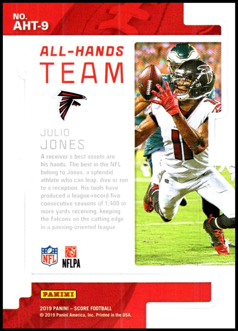 miniature 15 - 2019 Score All Hands Team NFL Football Card Singles You Pick Buy 4 Get 2 FREE