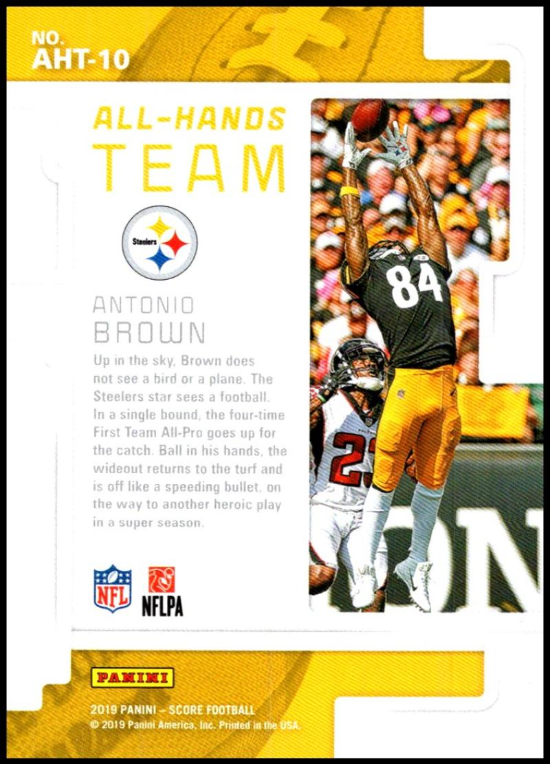 miniature 17 - 2019 Score All Hands Team NFL Football Card Singles You Pick Buy 4 Get 2 FREE