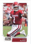 2019 Score Football #384 Kyler Murray Oklahoma Sooners Rookie  Official NFL Trading Card From Panini