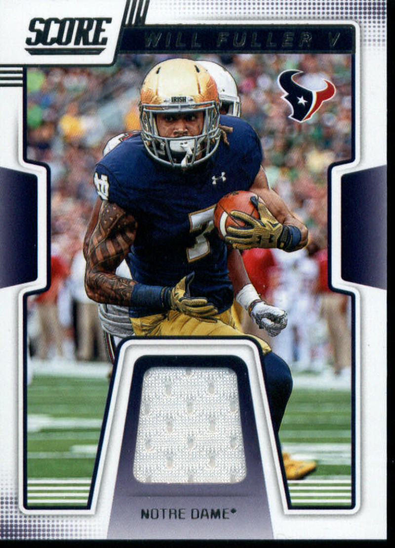 2019 Score Collegiate Jerseys CJ-18 Will Fuller V Swatch Notre Dame Fighting Irish  Official NFL Panini Football Memorabilia Trading Card