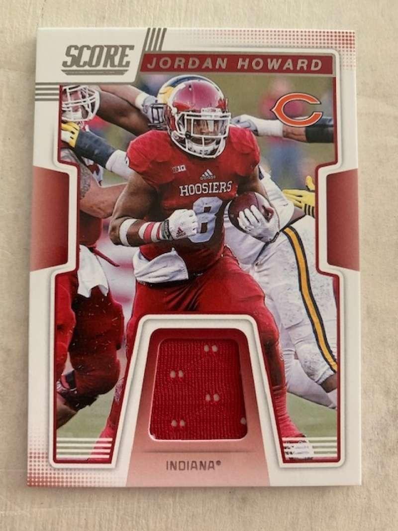2019 Score Collegiate Jerseys CJ-22 Jordan Howard Swatch Indiana Hoosiers  Official NFL Panini Football Memorabilia Trading Card