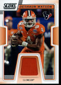 2019 Score Collegiate Jerseys CJ-10 Deshaun Watson Swatch Clemson Tigers  Official NFL Panini Football Memorabilia Trading Card