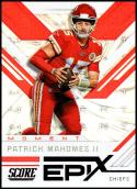 2019 Score NFL Epix Moment #3 Patrick Mahomes II Kansas City Chiefs  Official Football Card made by Panini