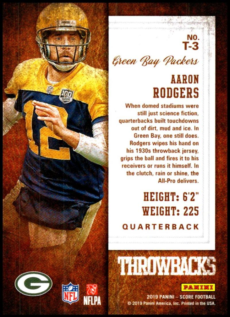 miniature 7 - 2019 Score Throwbacks NFL Football Card Singles You Pick Buy 4 Get 2 FREE