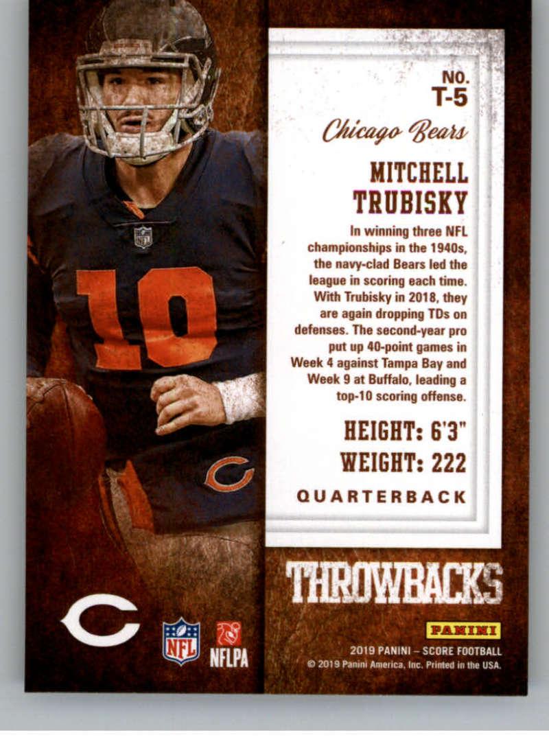 miniature 11 - 2019 Score Throwbacks NFL Football Card Singles You Pick Buy 4 Get 2 FREE