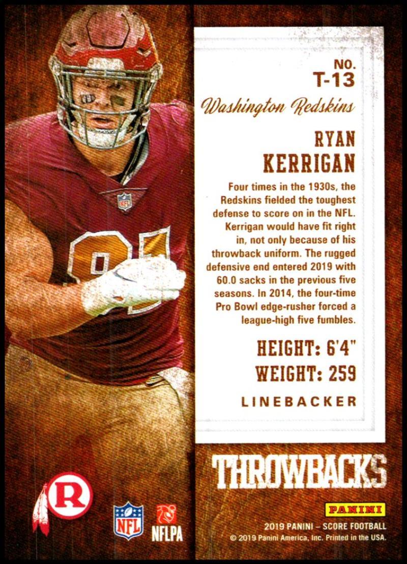 miniature 23 - 2019 Score Throwbacks NFL Football Card Singles You Pick Buy 4 Get 2 FREE