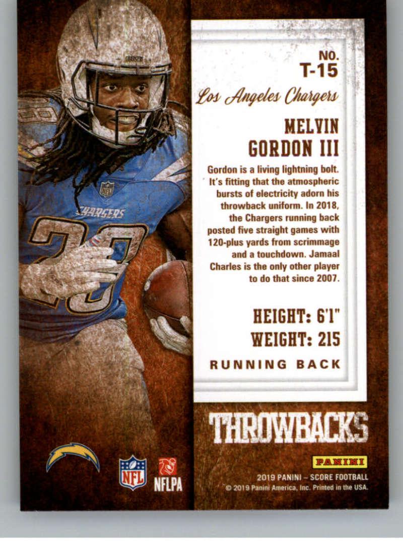 miniature 27 - 2019 Score Throwbacks NFL Football Card Singles You Pick Buy 4 Get 2 FREE
