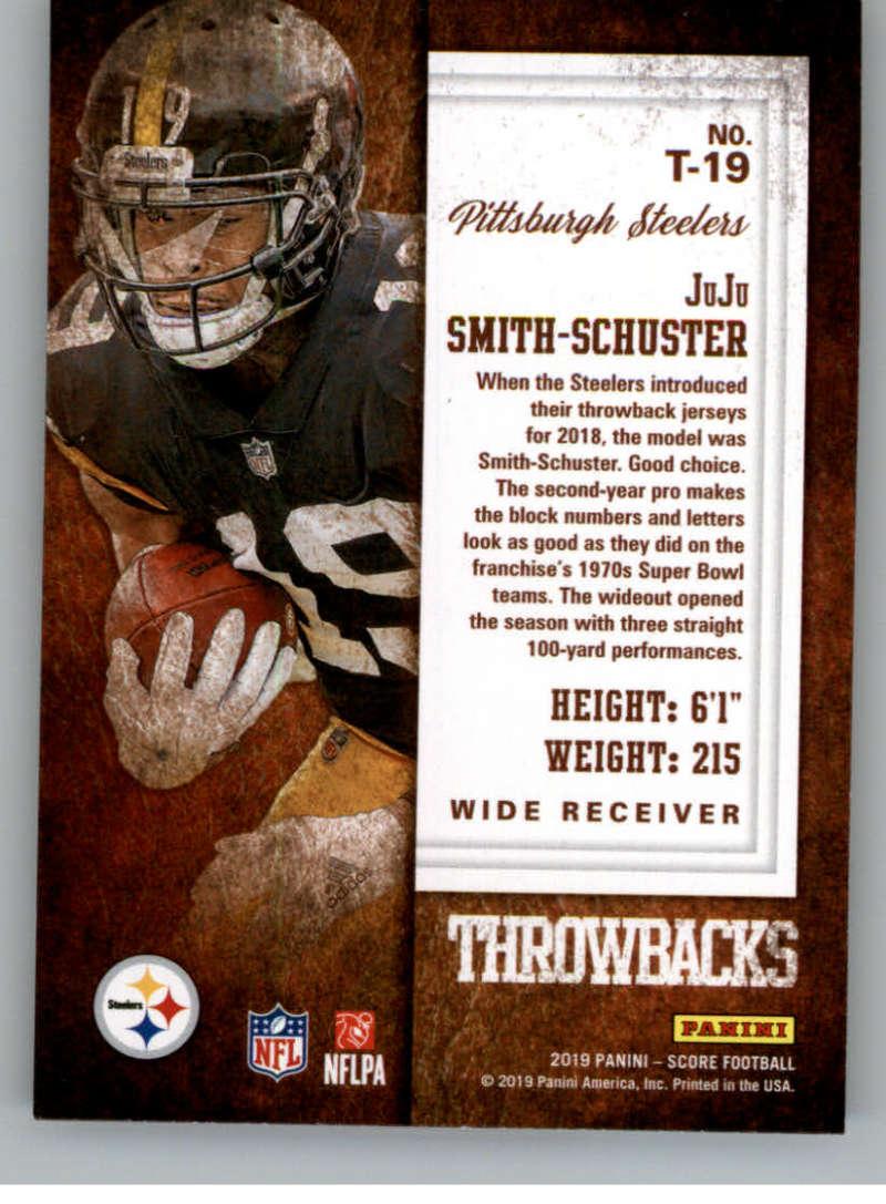 miniature 31 - 2019 Score Throwbacks NFL Football Card Singles You Pick Buy 4 Get 2 FREE