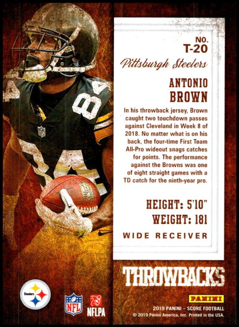 miniature 33 - 2019 Score Throwbacks NFL Football Card Singles You Pick Buy 4 Get 2 FREE