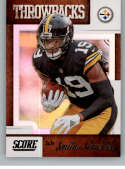 2019 Score NFL Throwbacks #19 JuJu Smith-Schuster Pittsburgh Steelers  Official Football Card made by Panini