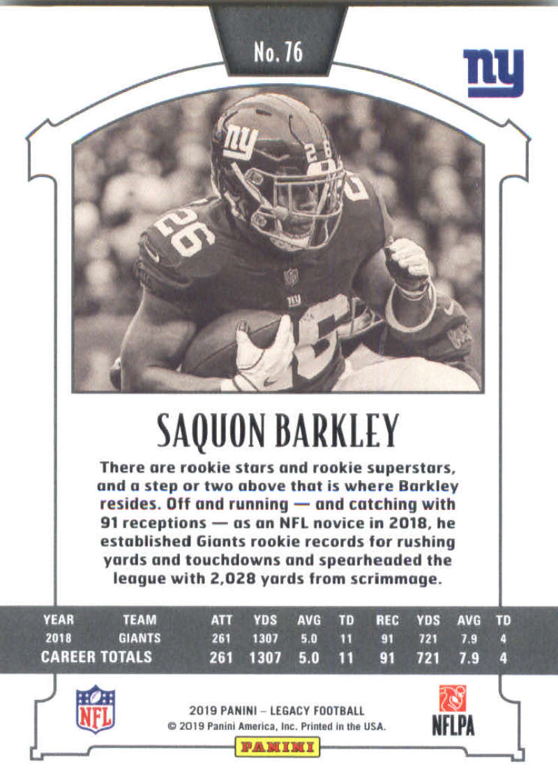 2019-Panini-Legacy-Football-Card-Pick-Including-Rookie-Cards-RC-1-200 thumbnail 153