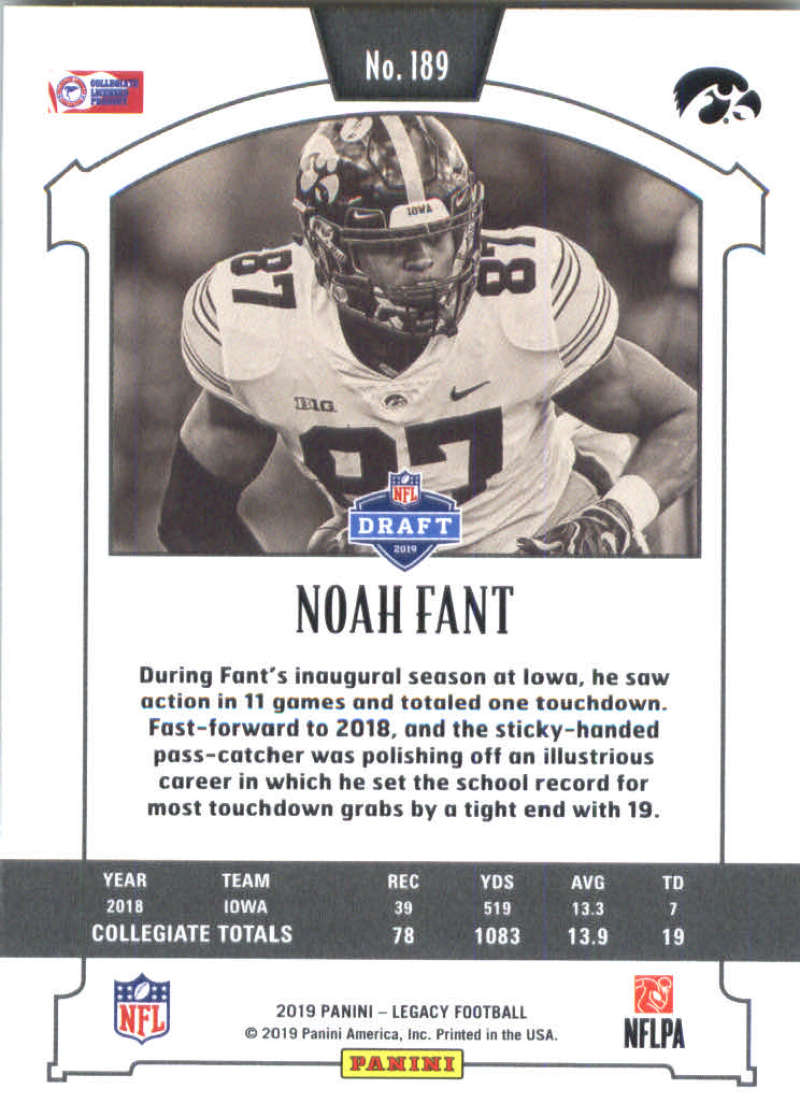 2019-Panini-Legacy-Football-Card-Pick-Including-Rookie-Cards-RC-1-200 thumbnail 375
