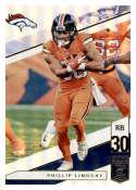2019 Donruss Elite Football #61 Phillip Lindsay Denver Broncos  Official NFL Trading Card (made by Panini)