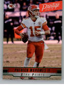 2019 Prestige NFL Xtra Points GREEN #19 Patrick Mahomes II Kansas City Chiefs Official Panini Football Trading Card