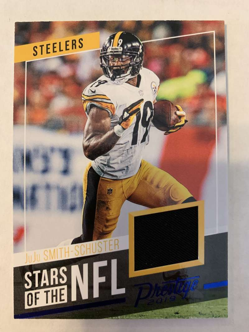 2019 Prestige Stars of the NFL Xtra Points Blue Jersey MEM #4 JuJu Smith-Schuster Pittsburgh Steelers  Official Panini Football Trading Card