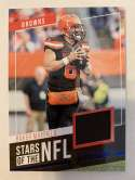 2019 Prestige Stars of the NFL Xtra Points Blue Jersey MEM #22 Baker Mayfield Cleveland Browns  Official Panini Football Trading Card