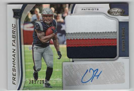 2019 Panini Certified Freshman Fabric Mirror Signatures