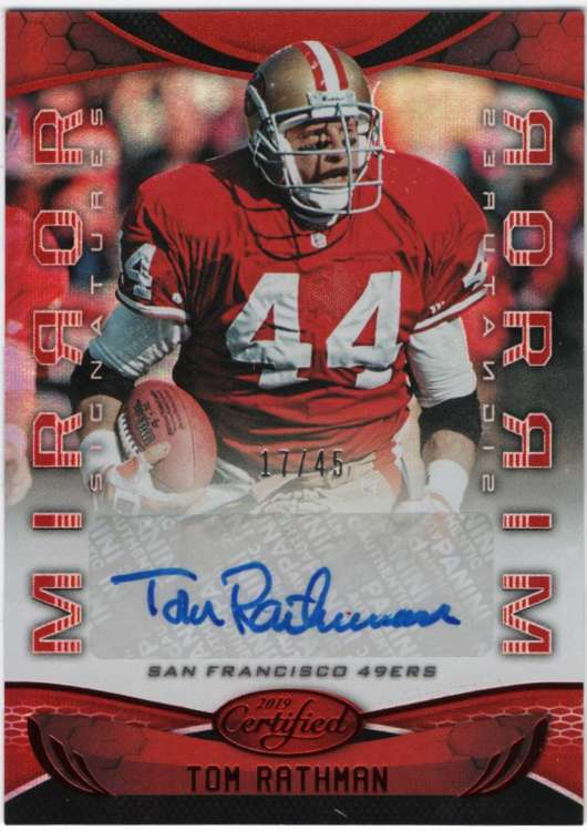 2019 Panini Certified Mirror Signatures Red