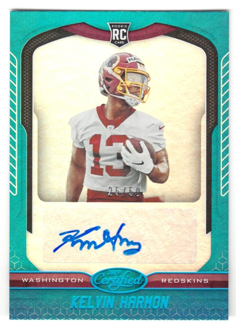 2019 Panini Certified Rookie Signatures Mirror Teal