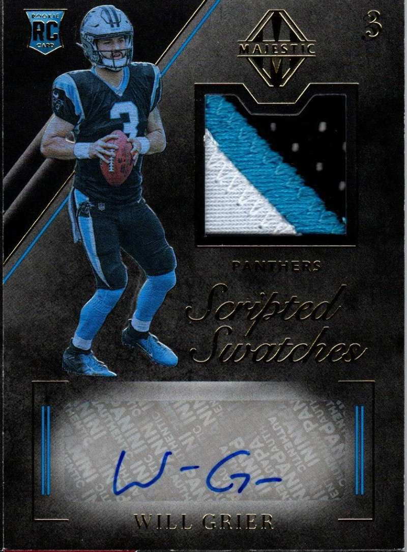 2019 Panini Majestic Rookie Scripted Swatches Gold