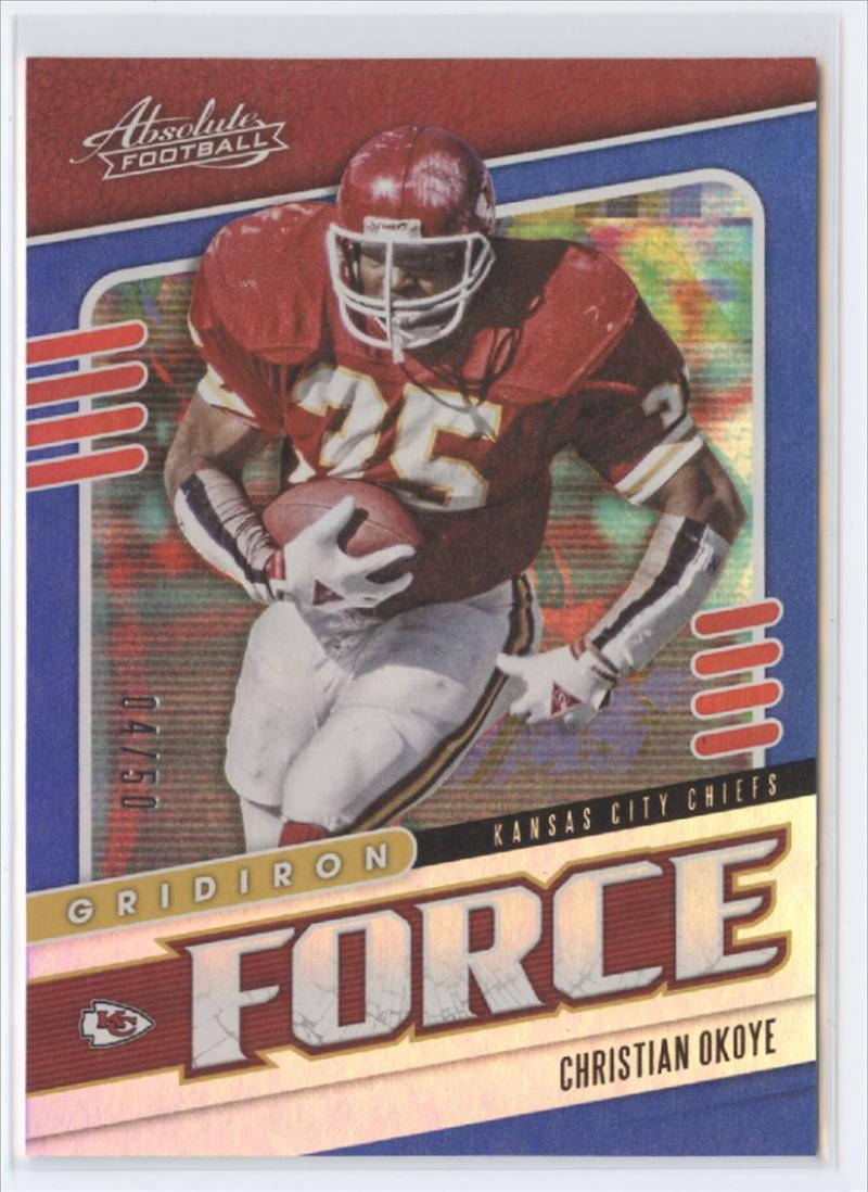 2019 Panini Absolute Gridiron Force Spectrum Blue