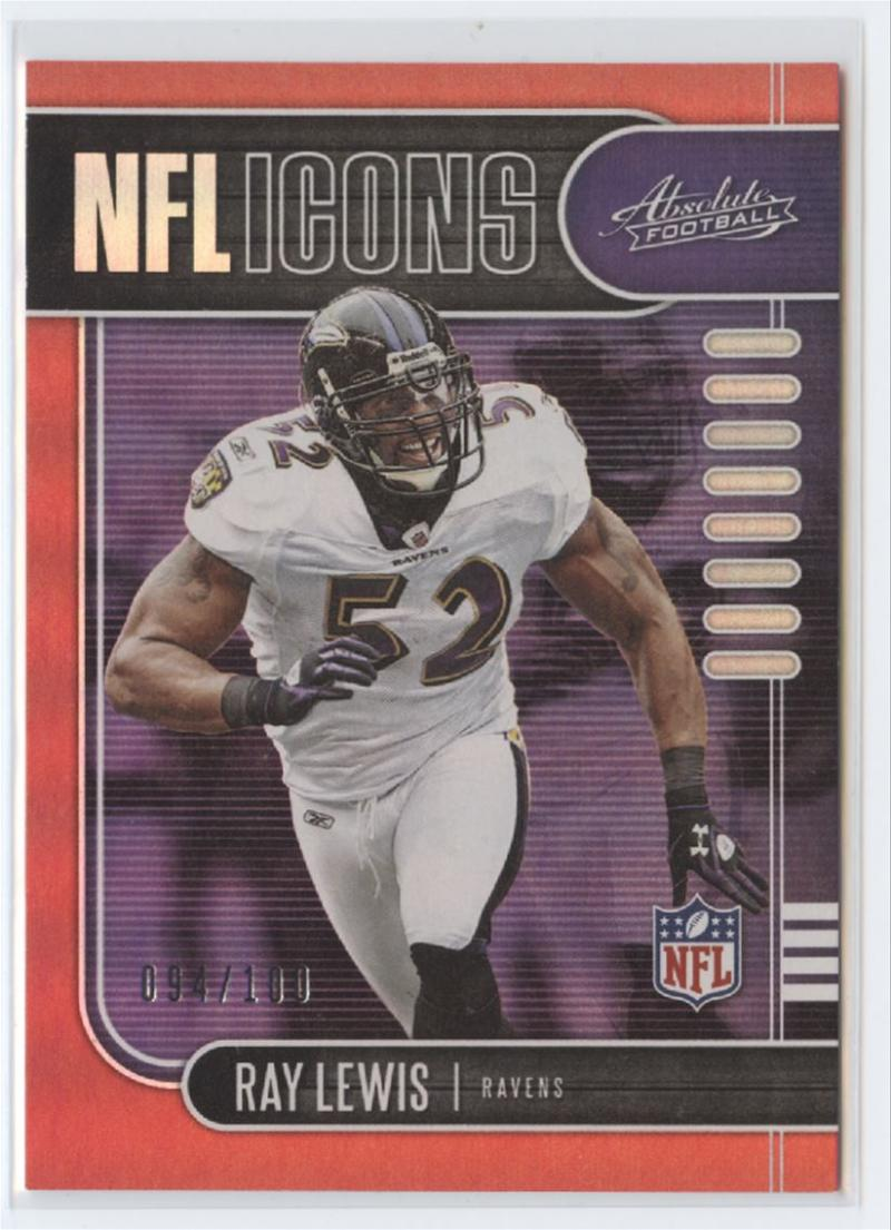 2019 Panini Absolute NFL Icons Spectrum Red