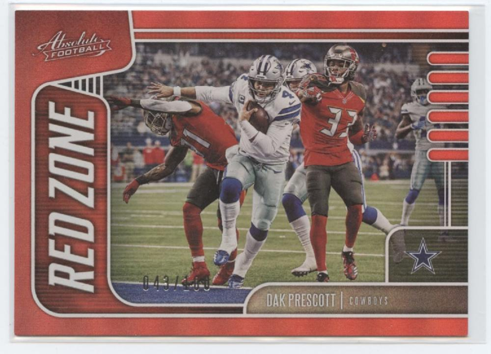 2019 Panini Absolute Red Zone Spectrum Red