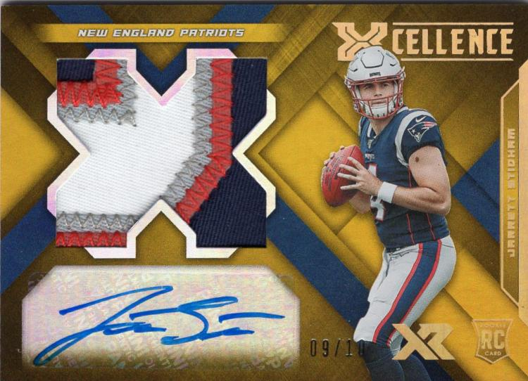 2019 Panini XR Rookie Xcellence Autograph Swatches Gold