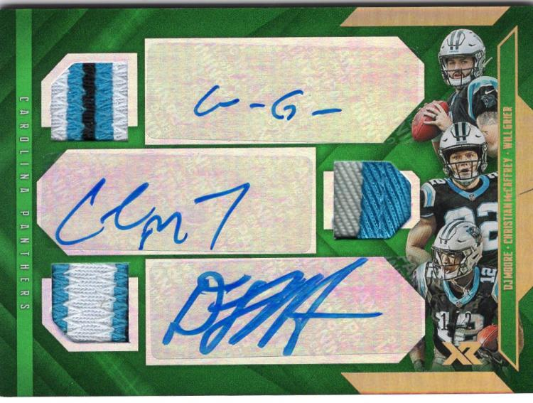 2019 Panini XR Triple Autographed Swatches Green