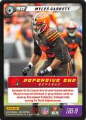 2019 Panini NFL Five Football #E165-19 Myles Garrett  Cleveland Browns Official Panini TCG Trading Game Collectible Card