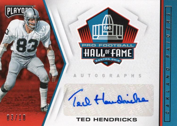 2019 Panini Playoff Hall of Fame Autographs