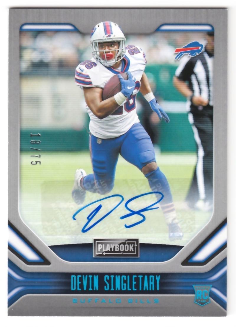 2019 Panini Playbook Rookies Signatures Platinum