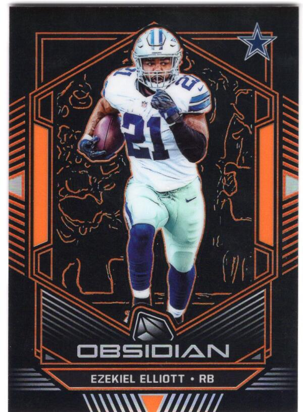 2019 Panini Obsidian Electric Etch Orange