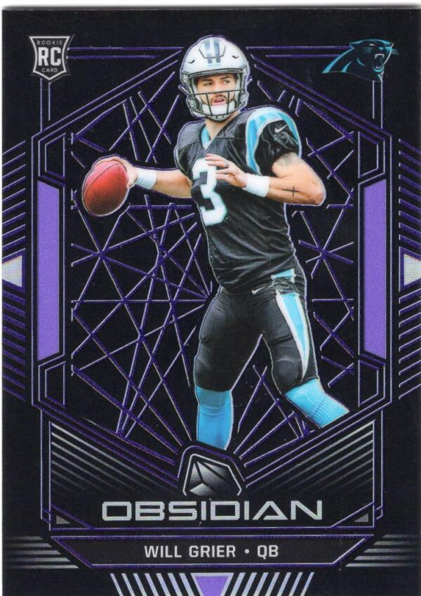 2019 Panini Obsidian Electric Etch Purple