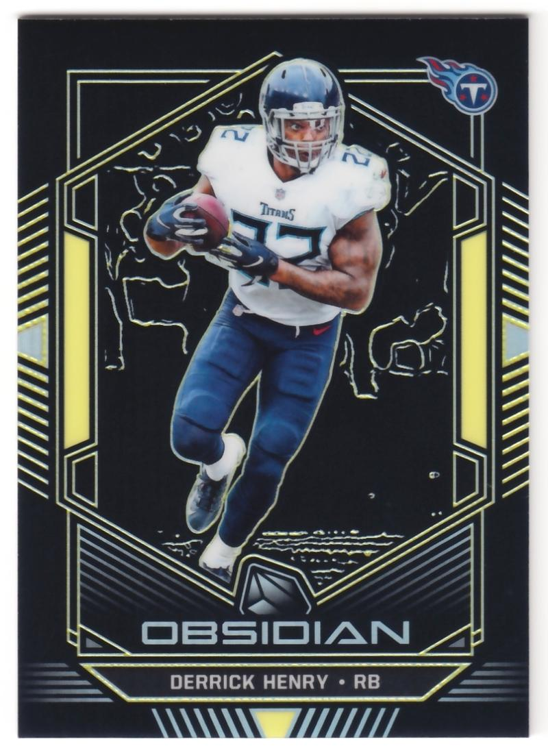 2019 Panini Obsidian Electric Etch Yellow