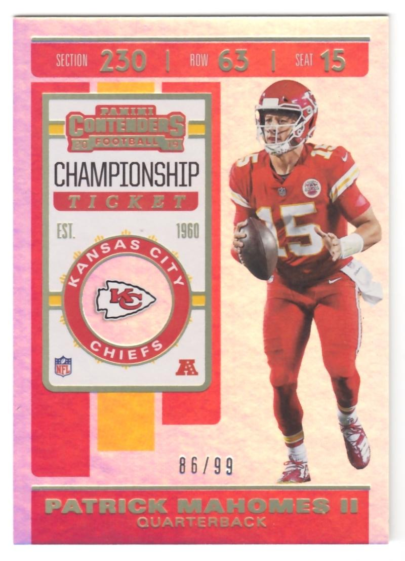 2019 Panini Contenders Championship Ticket