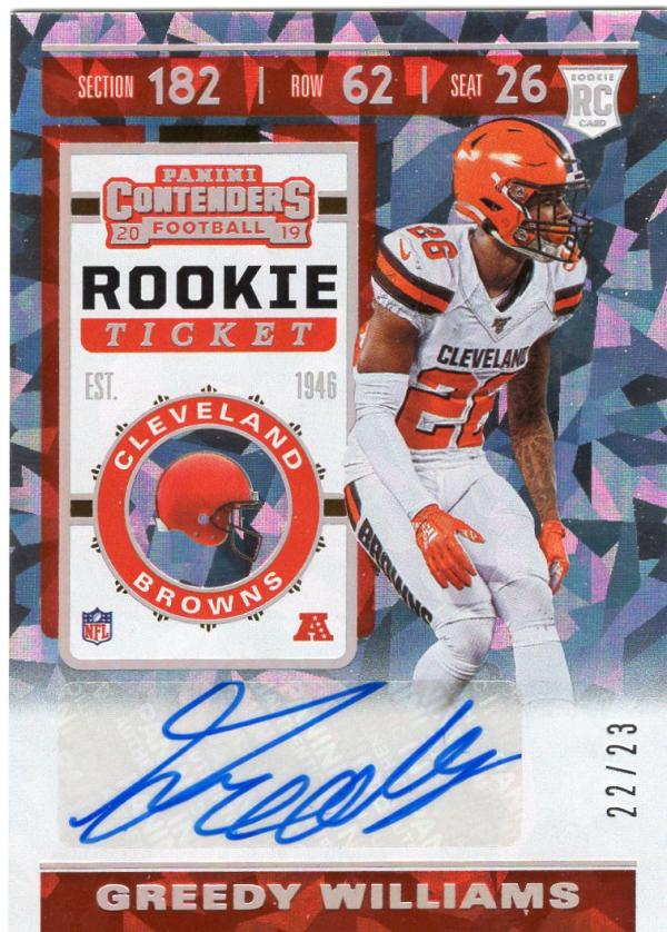 2019 Panini Contenders Rookie Cracked Ice Ticket