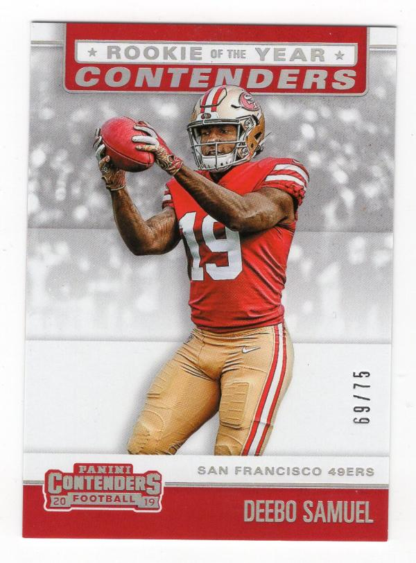 2019 Panini Contenders Rookie of the Year Contenders Silver