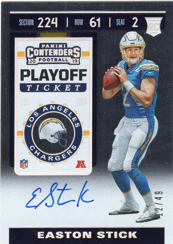 2019 Panini Contenders Rookie Playoff Ticket Variation RPS