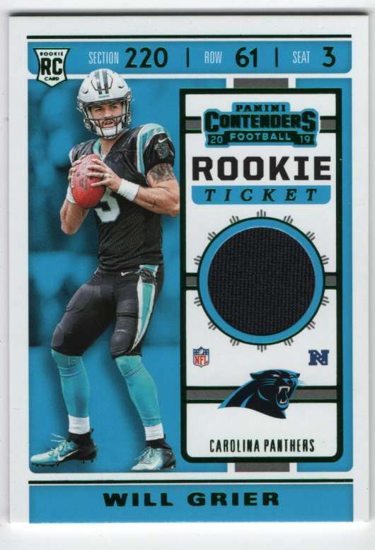2019 Panini Contenders Rookie Ticket Swatches
