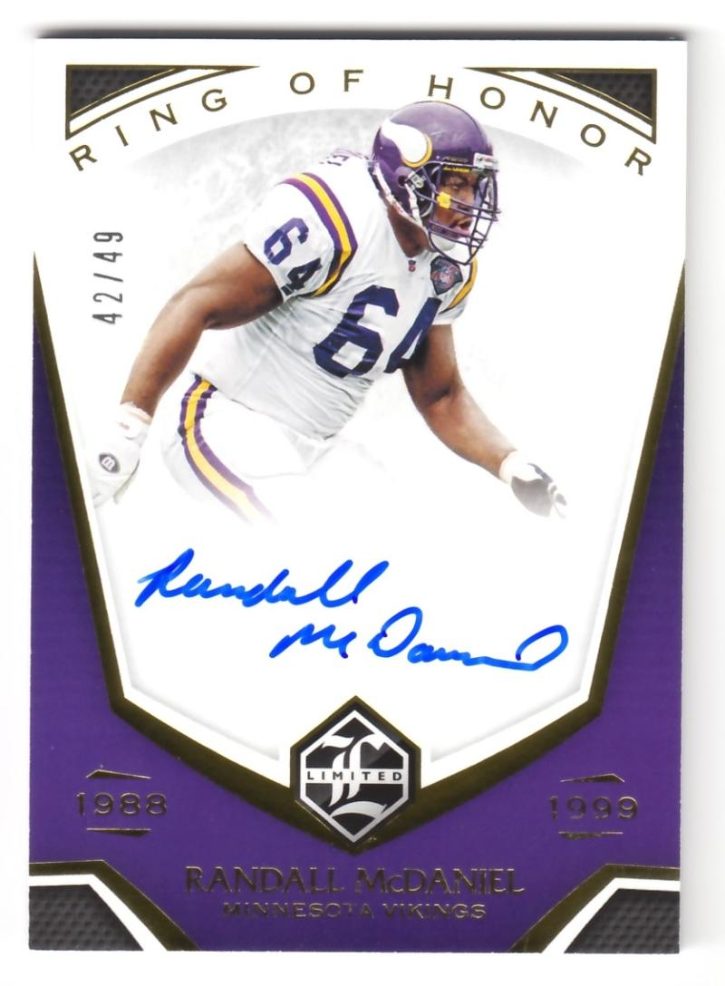 2019 Panini Limited Ring of Honor Autographs