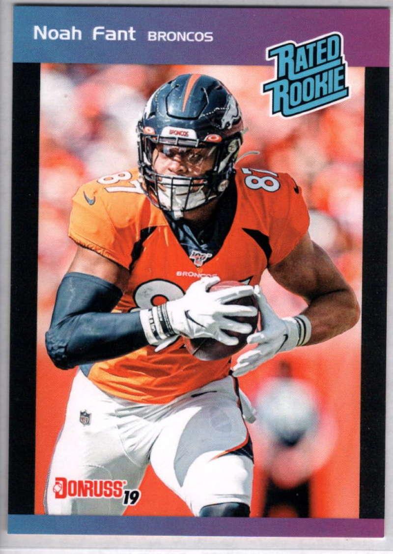 2019 Panini Instant Rated Rookies #6 Noah Fant  RC Rookie SER/280 Denver Broncos
