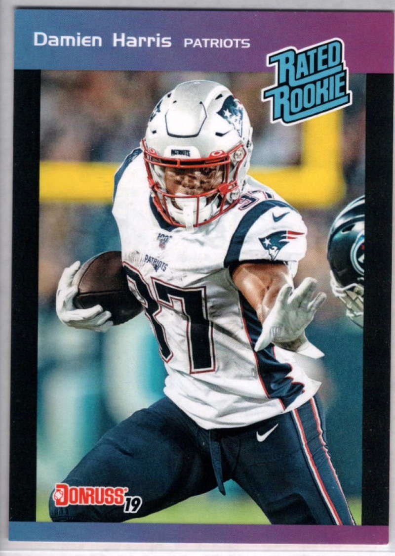 2019 Panini Instant Rated Rookies #25 Damien Harris  RC Rookie SER/280 New England Patriots