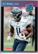 2019 Panini Instant Rated Rookies #13 A.J. Brown  RC Rookie SER/280 Tennessee Titans