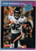 2019 Panini Instant Rated Rookies #22 David Montgomery  RC Rookie SER/280 Chicago Bears