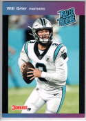 2019 Panini Instant Rated Rookies #27 Will Grier  RC Rookie SER/280 Carolina Panthers