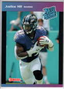2019 Panini Instant Rated Rookies #32 Justice Hill  RC Rookie SER/280 Baltimore Ravens
