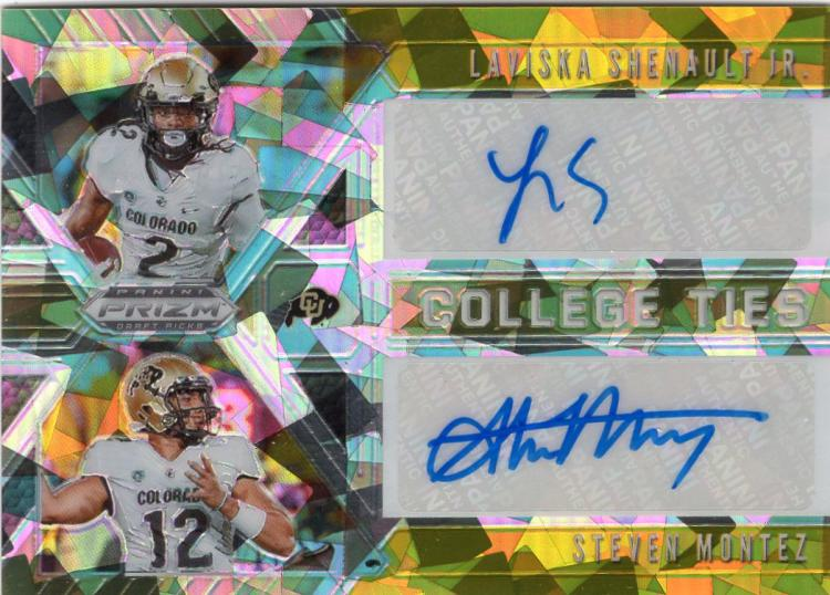 2020 Panini Prizm Draft Picks College Ties Gold Ice Autographs