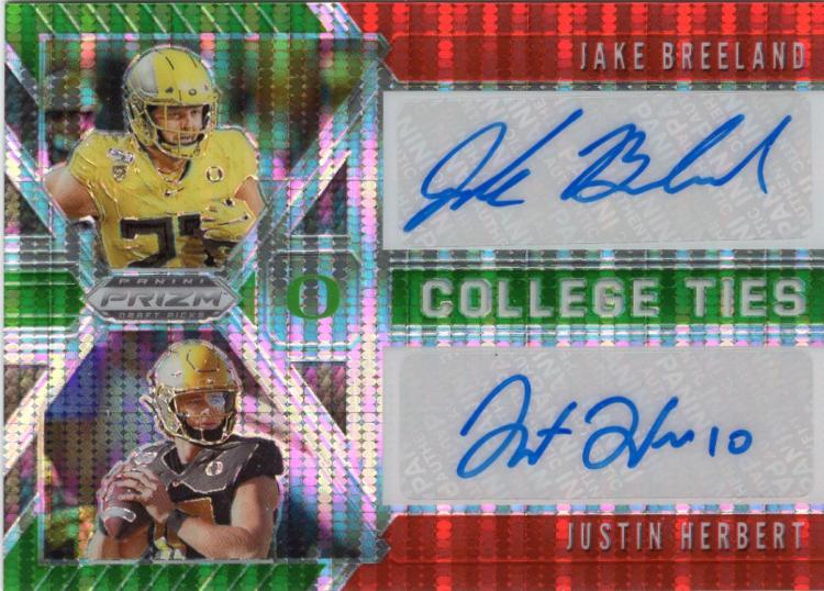 2020 Panini Prizm Draft Picks College Ties Orange Pulsar Autographs