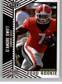 2020 SAGE HIT Premier Draft (NFL) #7 D'andre Swift Georgia Bulldogs  Pre-Rookie RC Official Player Licensed Football Trading Card